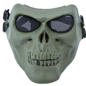 Máscara protectora de paintball, diseño de calavera