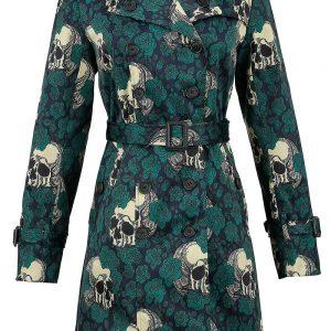 abrigo verde de calaveras