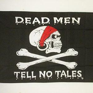 bandera de calavera dead man tell no tales
