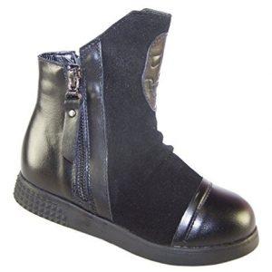 botas de piel negras de calavera