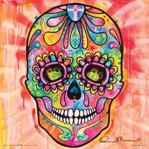 dibujo de calavera mejicana Dean Russo