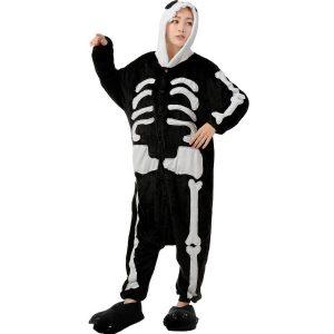 disfraz de calavera estilo pijama