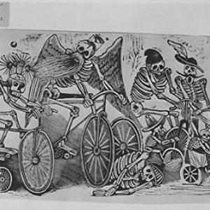 imagen calaveras en bicicleta