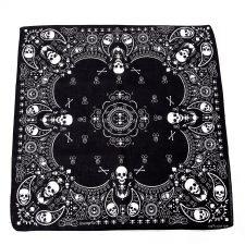 Los diseñadores de moda más transgresores se pirran por los pañuelos de calaveras. Nosotros hemos recogido su apuesta y tenemos una gran cantidad de pañuelos.