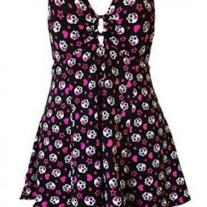 vestido corto rockabilly de calaveras