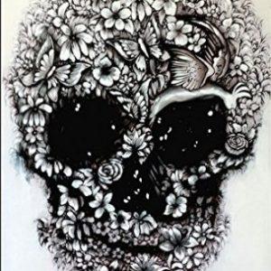 Acrílico de calavera floral