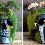Estas calaveras con bonsáis devuelven la vida a los muertos