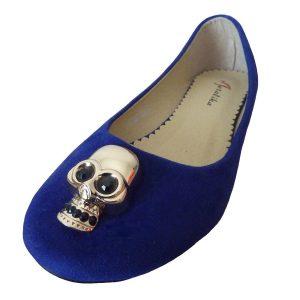bailarinas azules con calavera