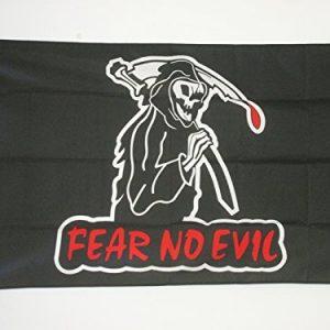 bandera de calavera fear no evil