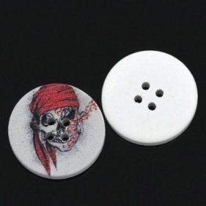 boton con dibujo de calavera