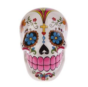 calavera mexicana decorativa rosa