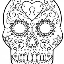 calaveras mexicanas para colorear