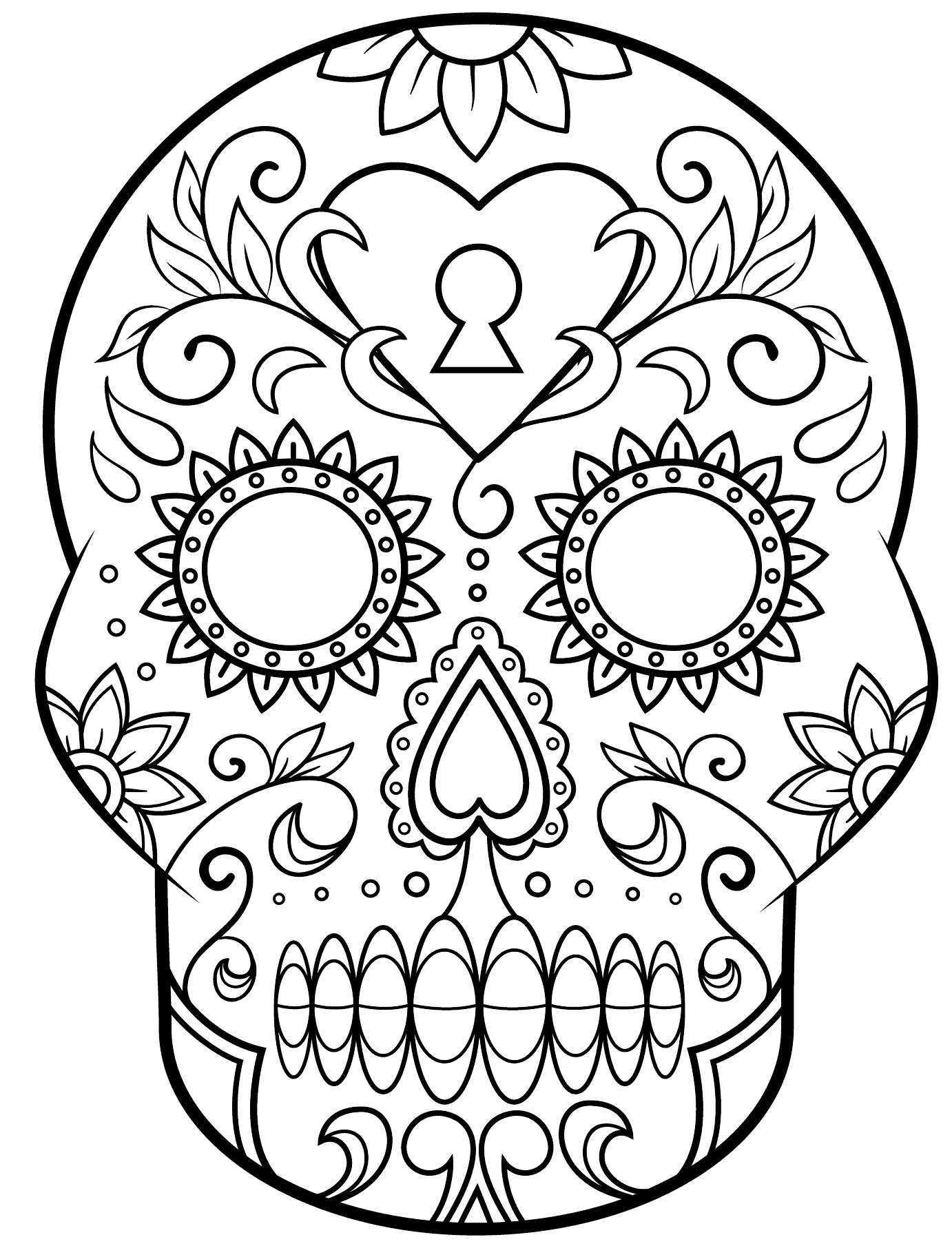 calavera catrina coloring pages - photo#45