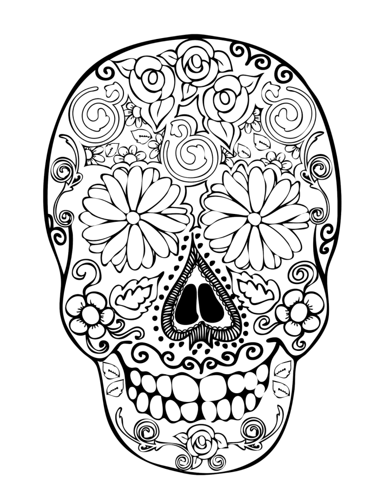 Dibujos de calaveras para colorear decalaveras com for El dia de los muertos coloring pages