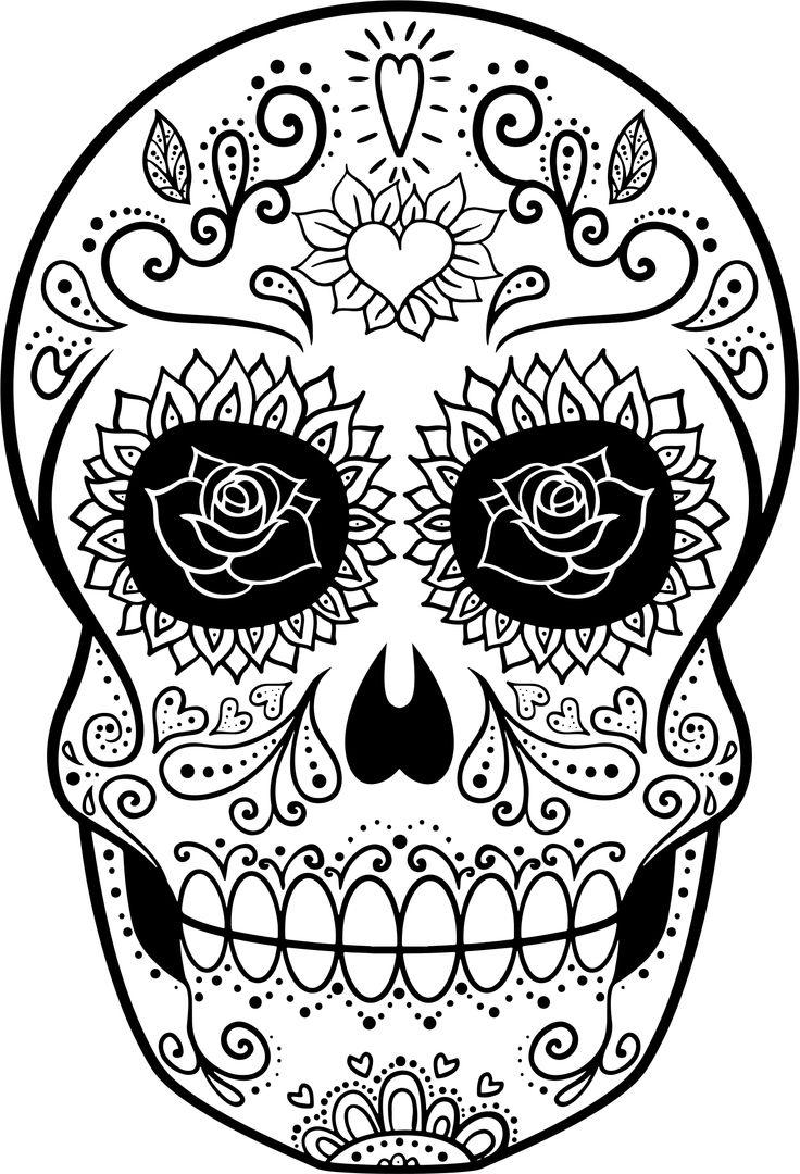 Dibujos de calaveras mexicanas para colorear en halloween - Imagenes de halloween ...