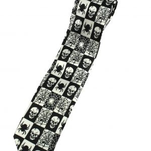 corbata de arañas y calaveras