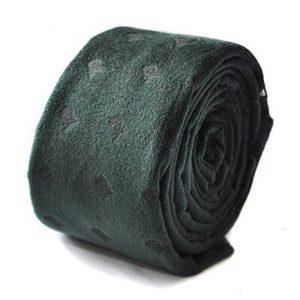 corbata de terciopleo verde con calaveras