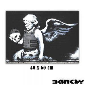 cuadro angel con calavera de banksy