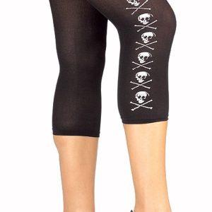 leggins cortos con calaveras piratas
