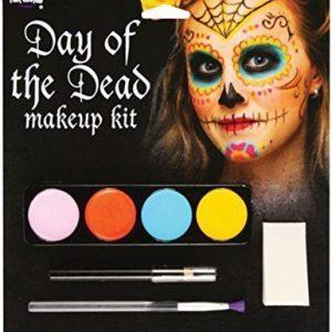 maquillaje de calavera multicolor
