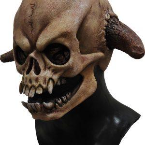 mascara de calavera con cuernos