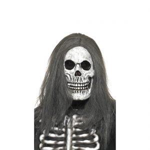 mascara de calavera con pelo