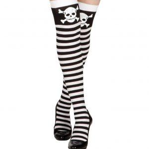 medias de rayas con calavera pirata