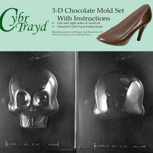 molde de calavera 3D para chocolate