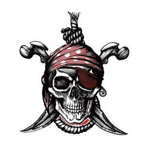 pegatina para coche calavera pirata