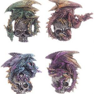 pin de calavera y dragon