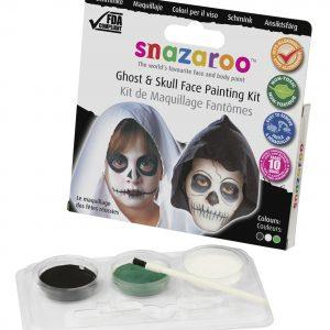 pintura facial fantasma y calavera