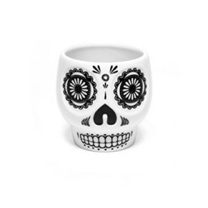 taza de calavera diseño mejicano