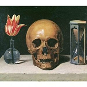 Imagen de naturaleza muerta y calavera de Philippe De Champaigne