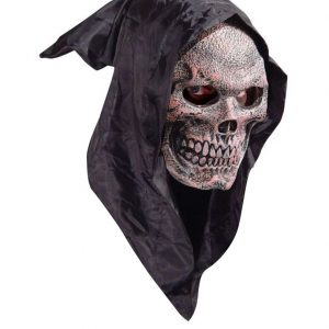Máscara de calavera con capucha
