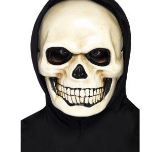 Máscara de calavera hecha de látex