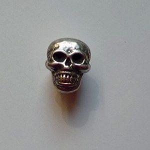 boton de calavaera de metal