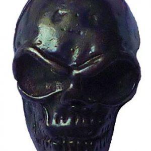 boton de calavera negra