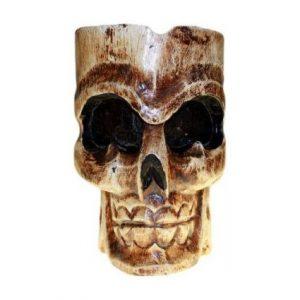 cenicero de calavera antiguo