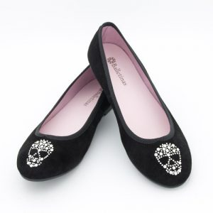 zapatos de calaveras brillo
