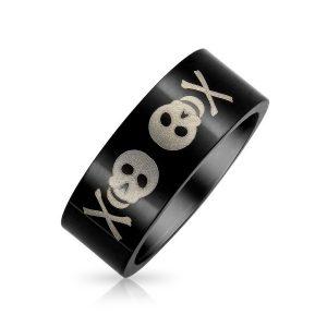 anillo de acero inoxidable negro