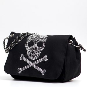 bolso negro con calavera pirata