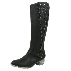 botas de mujer con calaveras