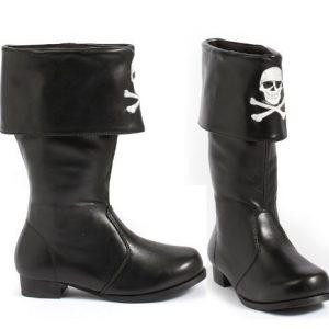 botas de niña calavera pirata