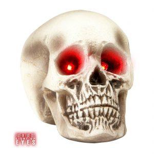 calavera de halloween ojos brillantes