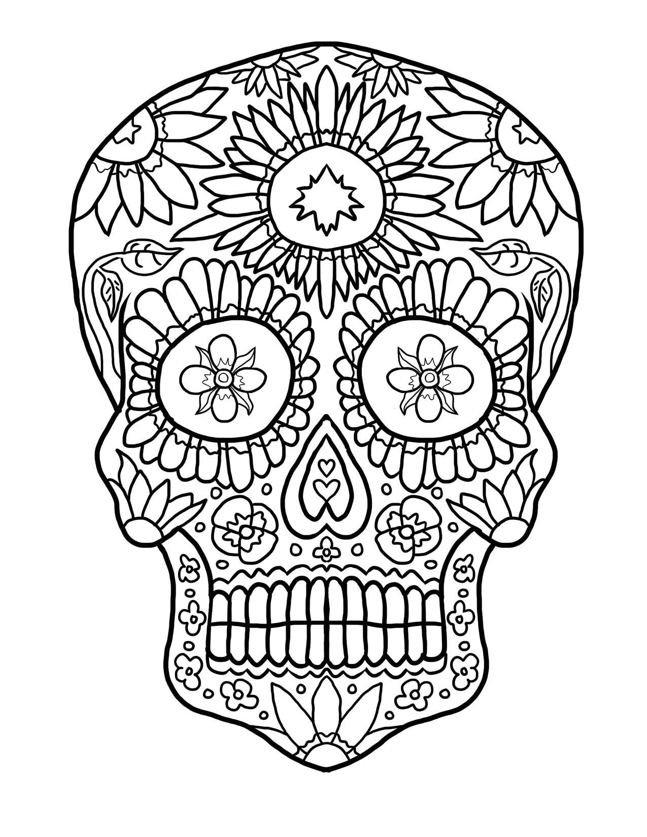 Dibujos de Calaveras para Colorear | DECALAVERAS.COM