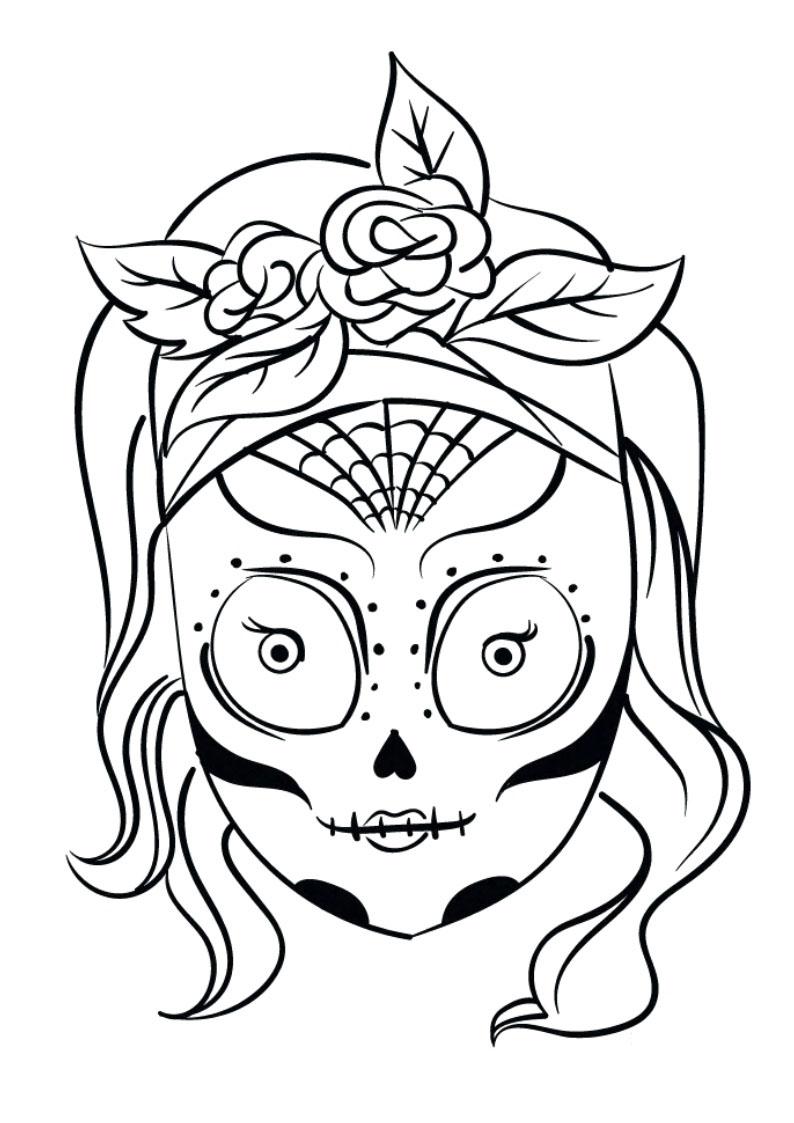 Dibujos de Calaveras para Colorear  DECALAVERAS.COM