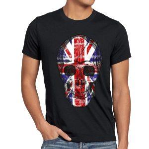 camiseta de calavera bandera britanica
