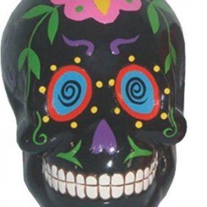hucha calavera mexicana negra