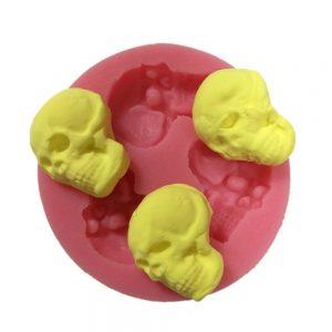 molde de silicona de calaveras pequeñas