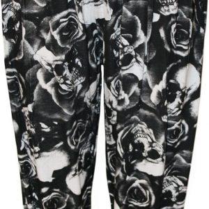 pantalon mujer de rosas y calaveras